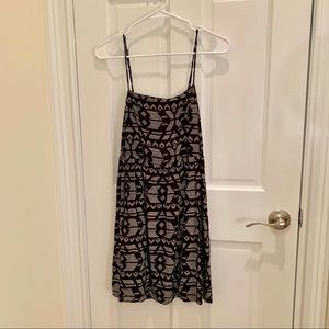 Black white tribal print dress urban outfitters